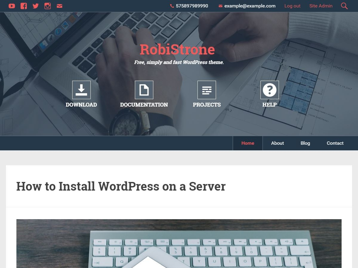 RobiStrone free WordPress theme