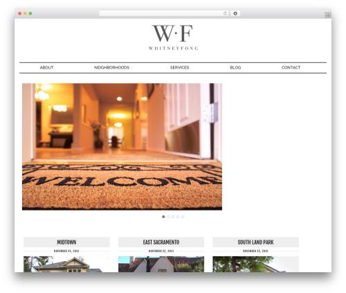 Runway top WordPress theme - whitneyfong.net