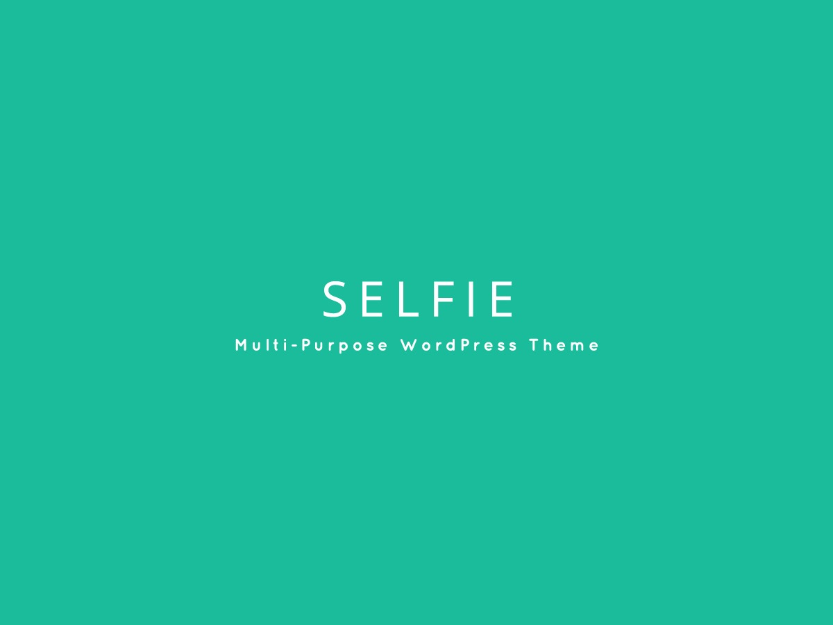 Selfie free website theme