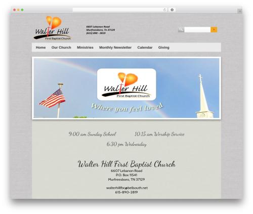 Sharefaith Church Website Template WordPress theme - whfbc.net