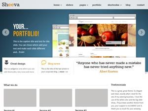 Sheeva WordPress theme design