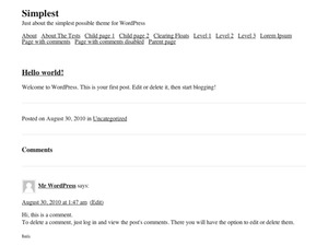 Simplest WordPress theme design