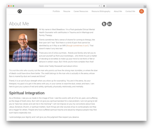 Smallblog free WordPress theme - westbreedlove.com