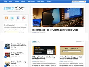 Smartblog WordPress blog template
