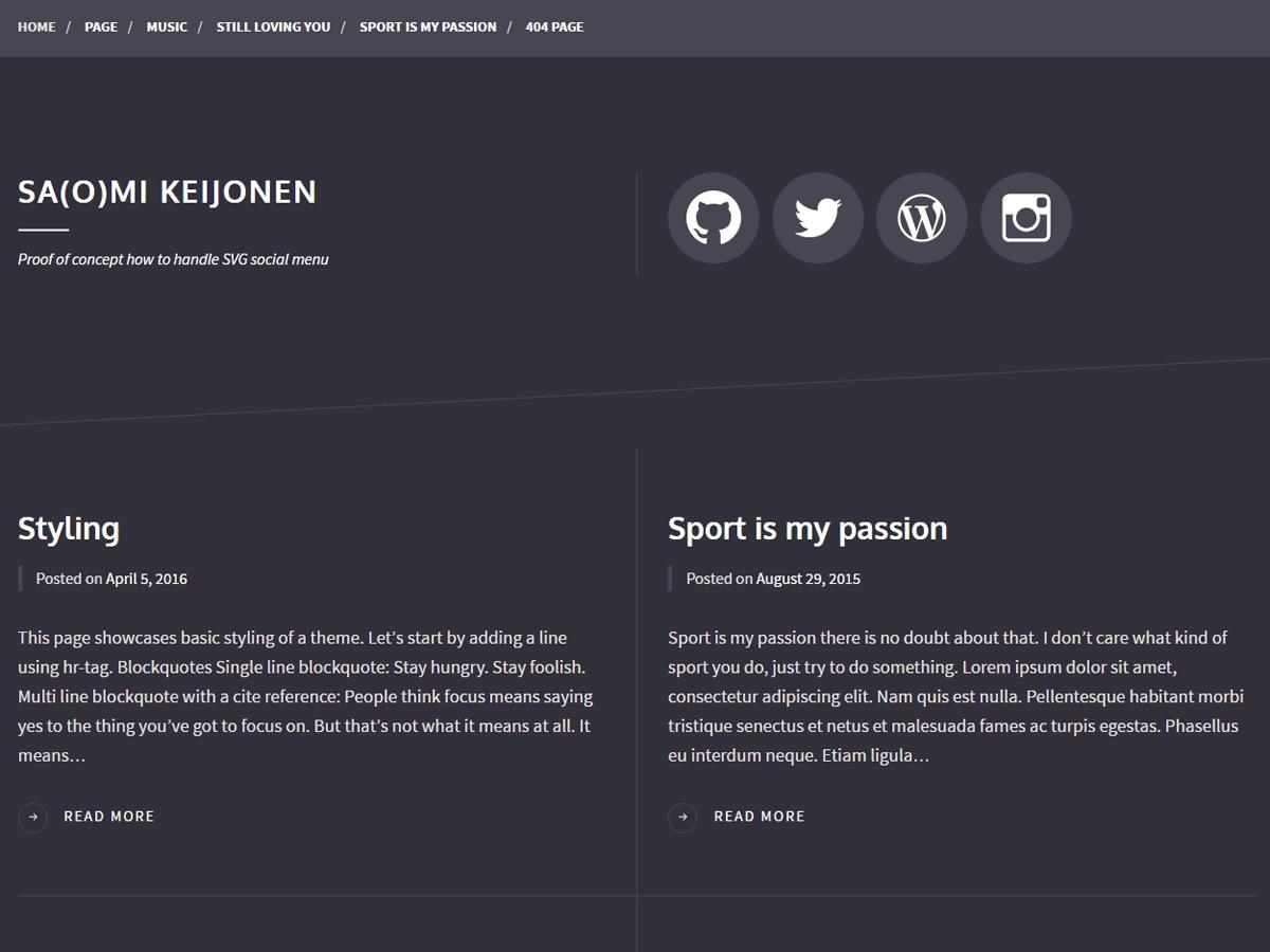 Some WordPress blog theme