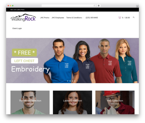 Storesy WordPress store theme - walkingrock.com