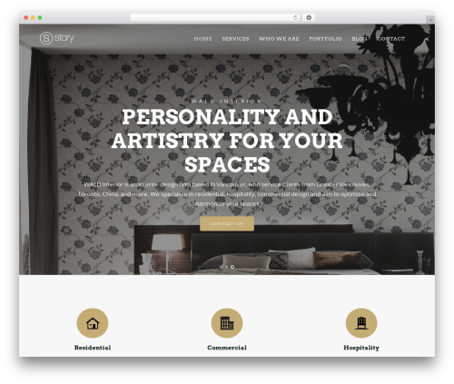 Story best WordPress theme - waldinterior.com