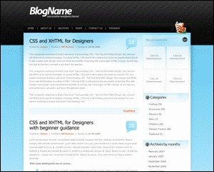 Stripey WordPress theme