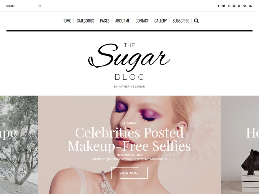 Sugarblog WordPress blog theme