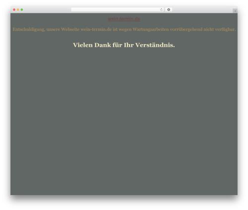 tegude WordPress theme design - wein-termin.de