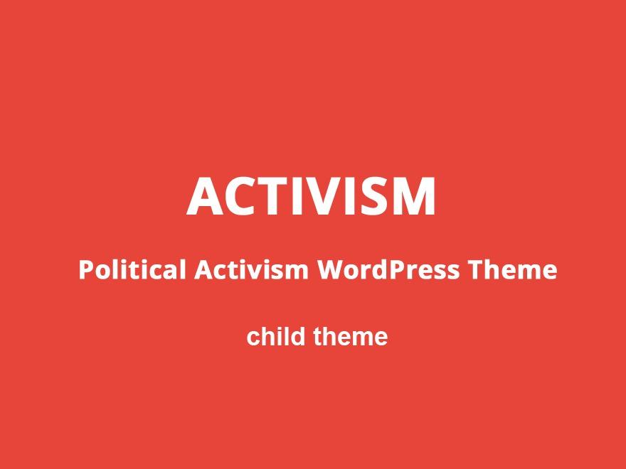 Template WordPress Activism Child