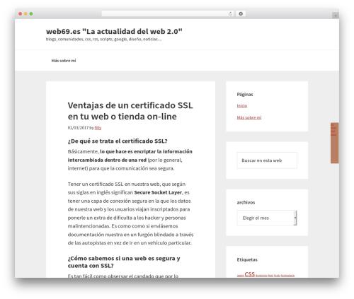 Template WordPress Genesis - web69.es