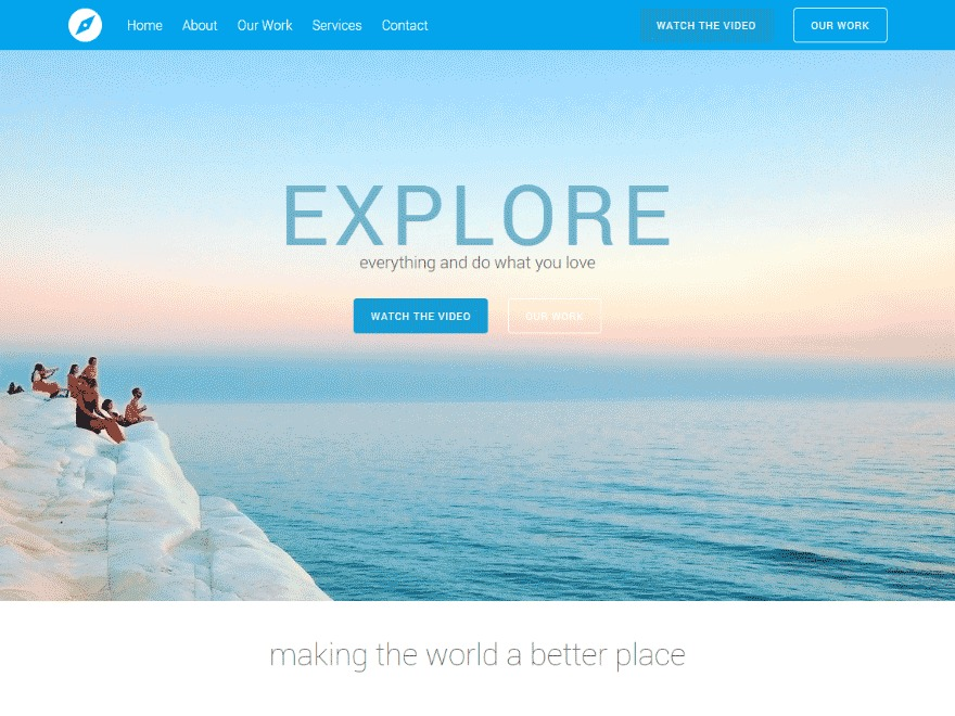 Tesseract WordPress page template