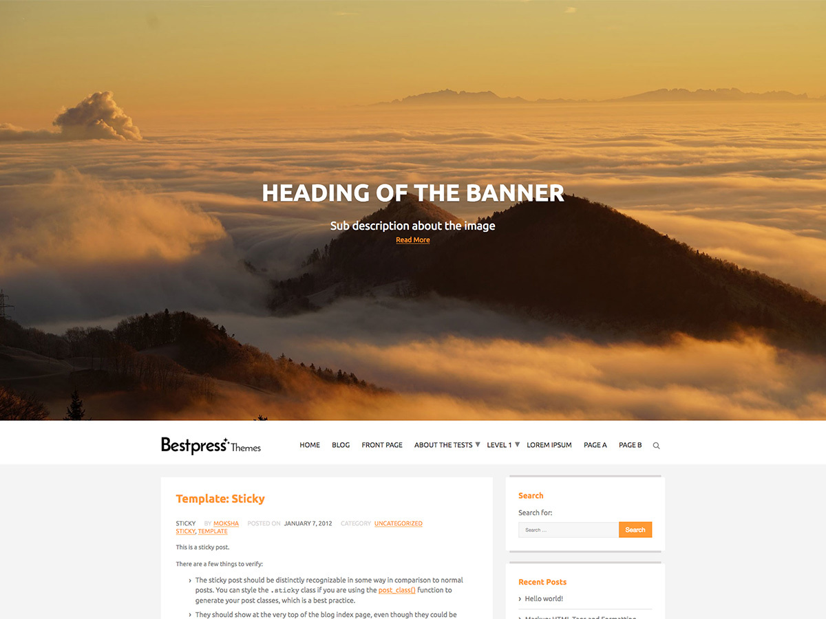 The Best Blog WordPress theme free download
