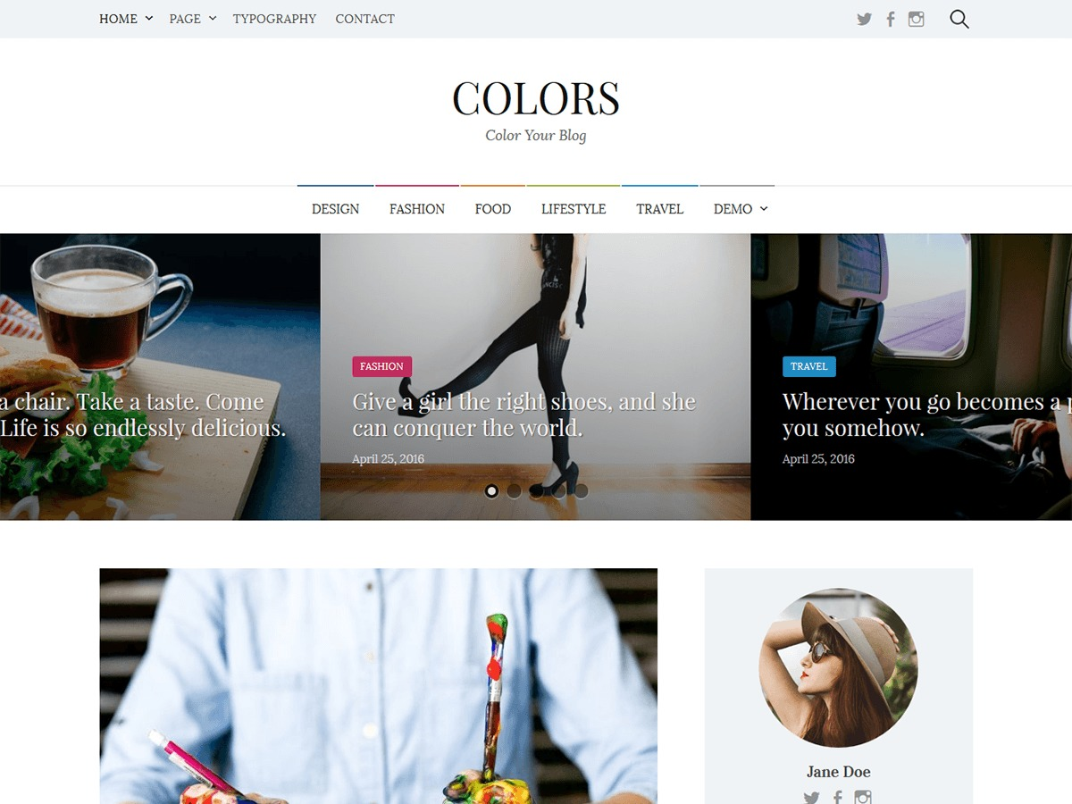 Theme WordPress Colors