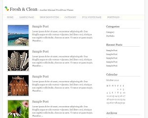 Theme WordPress Fresh And Clean