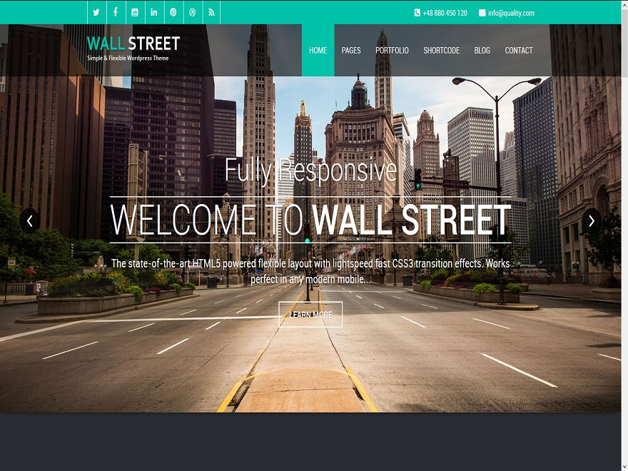 Theme WordPress Wallstreet-Pro