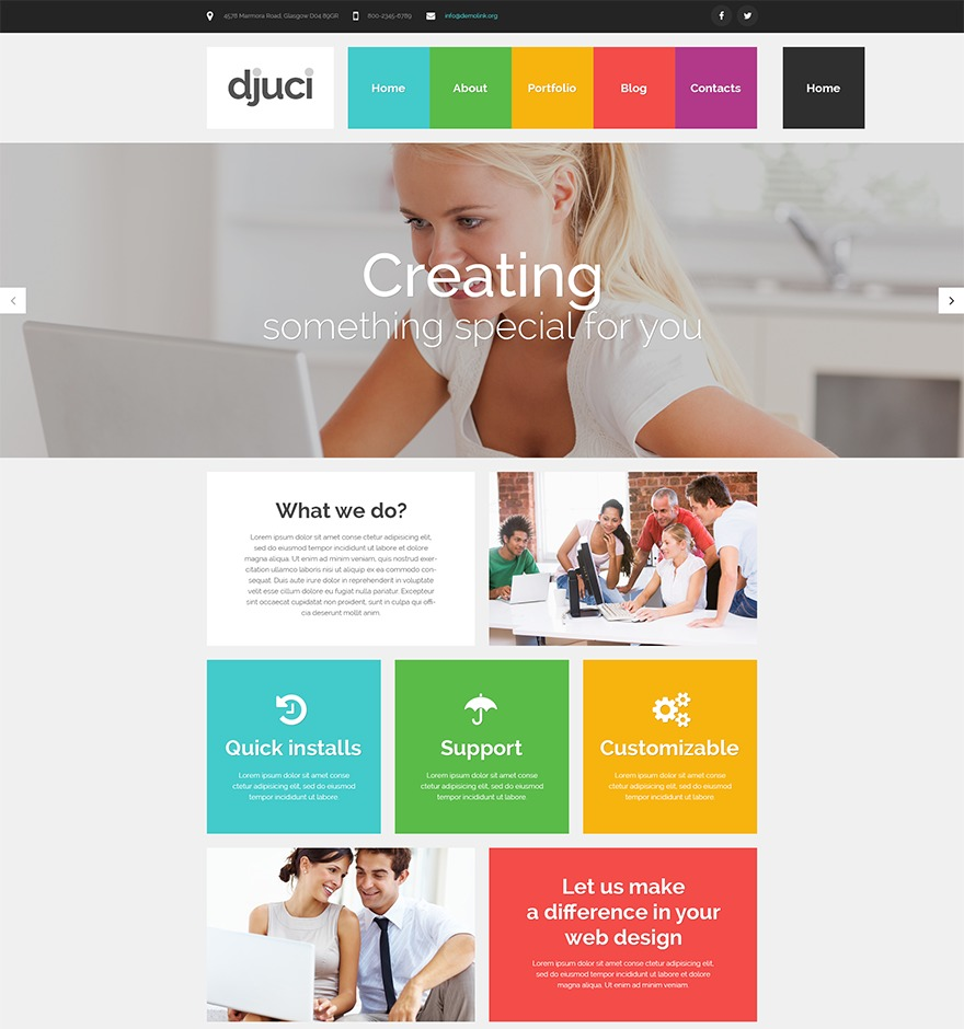 theme53095 WordPress website template
