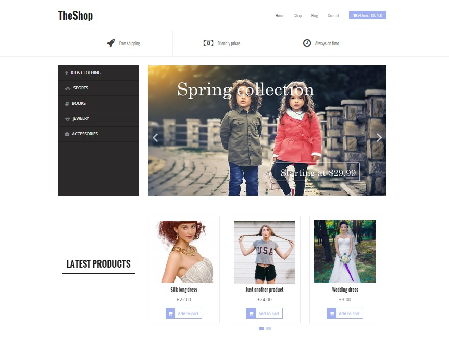 TheShop WordPress store theme
