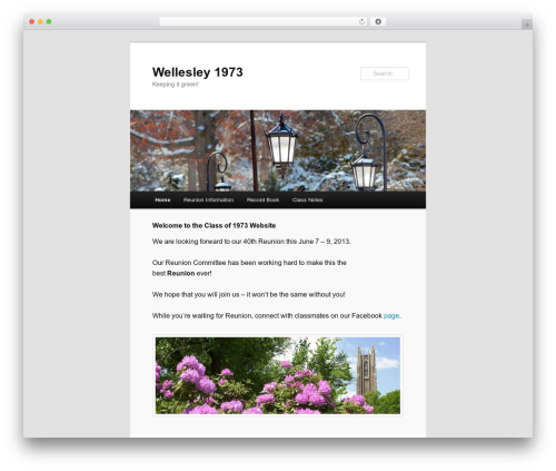 Twenty Eleven free website theme - wellesley1973.com