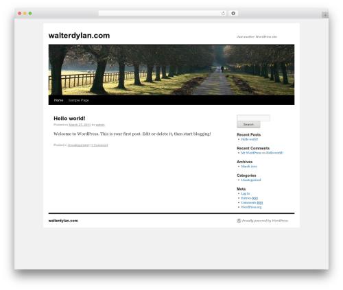 Twenty Ten free WP theme - walterdylan.com