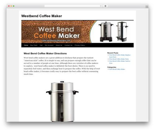 Twenty Ten WordPress template - westbendcoffeemaker.com