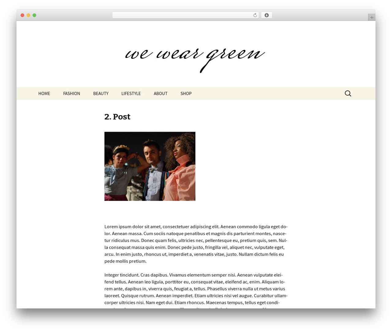 Twenty Thirteen template WordPress free - we-wear-green.de