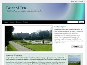 Twist of Ten top WordPress theme
