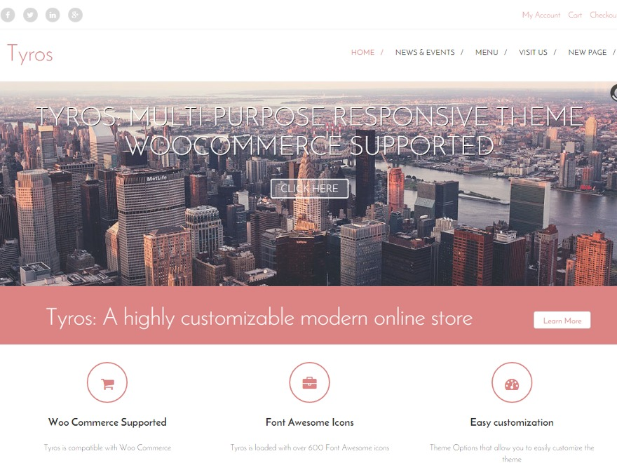 Tyros Pro WordPress store theme