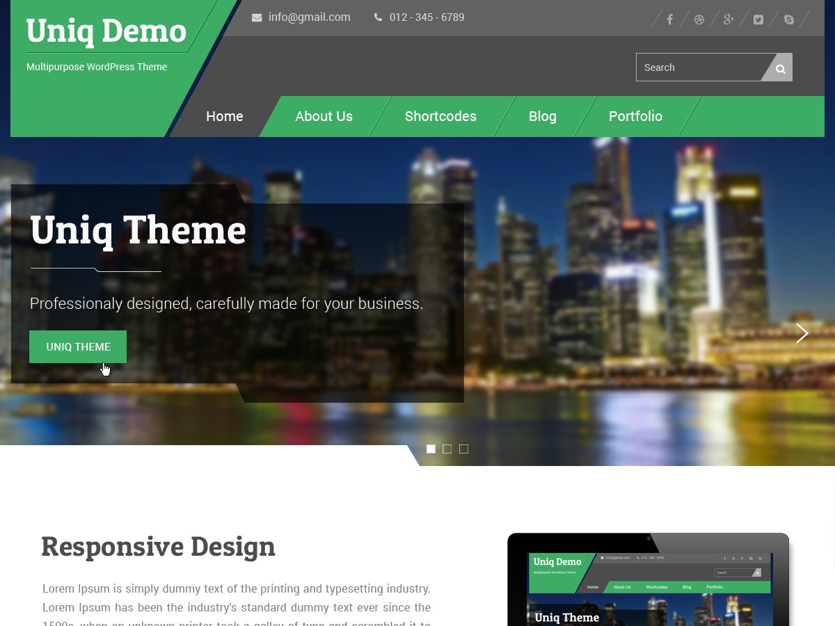 Uniq WordPress theme free download
