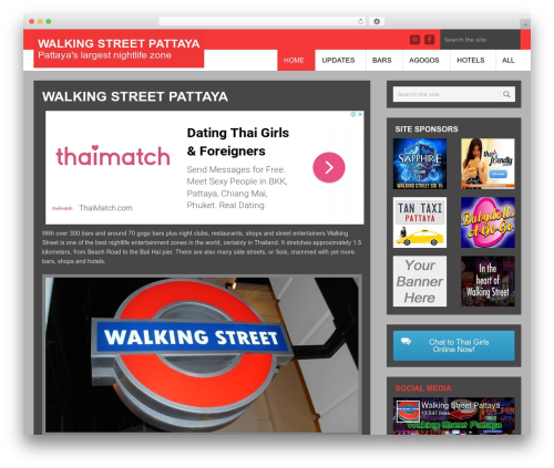 Urban Lite WordPress store theme - walking-street-pattaya.com