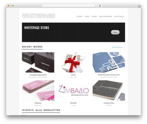 Vimes WordPress theme - whitepage.it