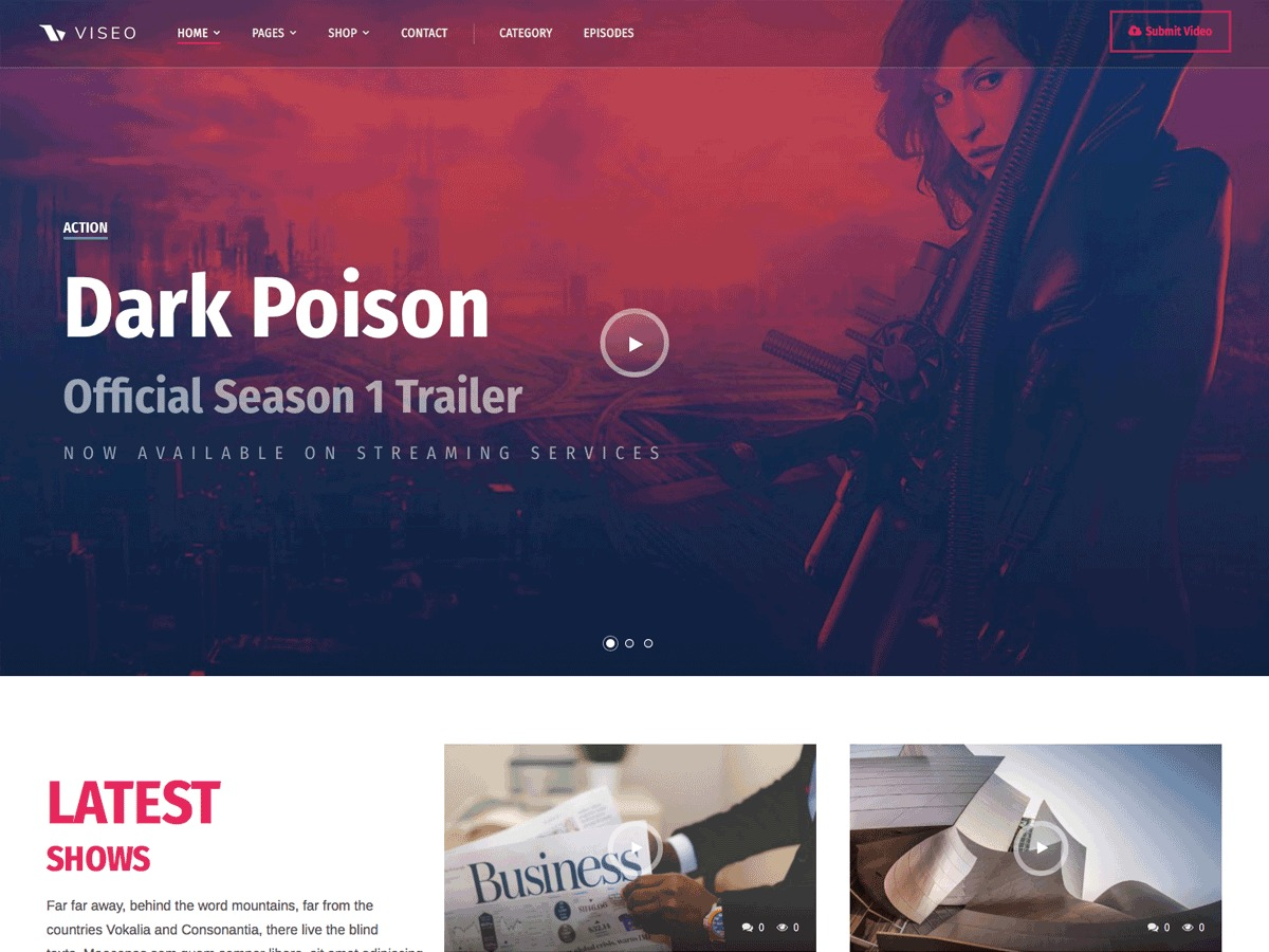 Viseo Progression WordPress news theme