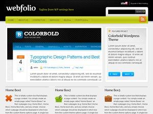 Webfolio WordPress theme design