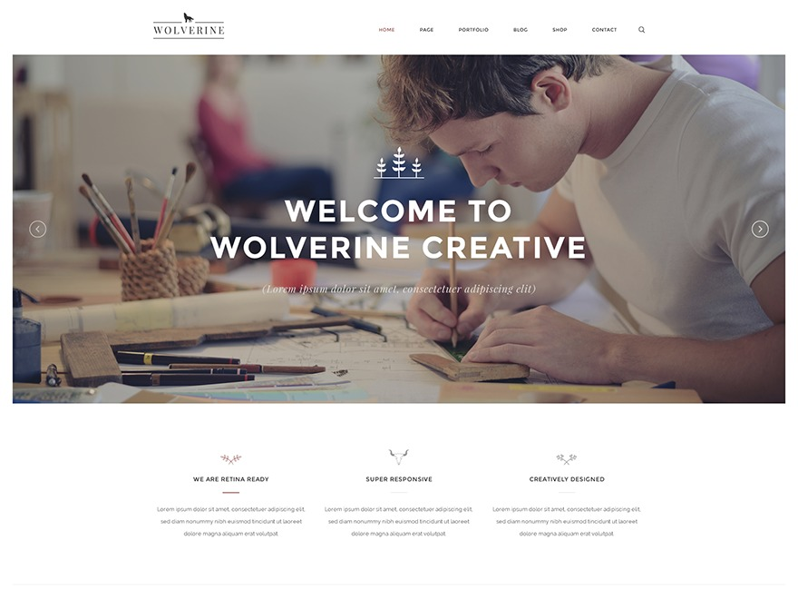 Wolverine WordPress template