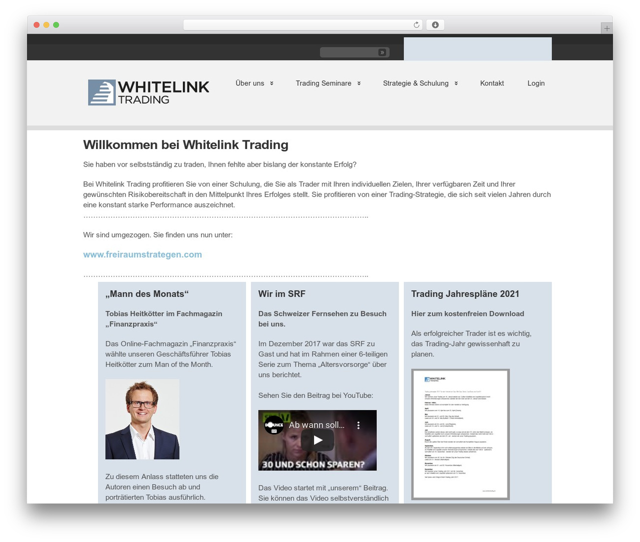 WordPress template Clearly Modern - whitelinktrading.ch