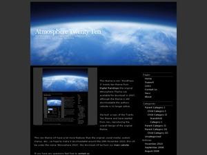 WordPress theme Atmosphere 2010