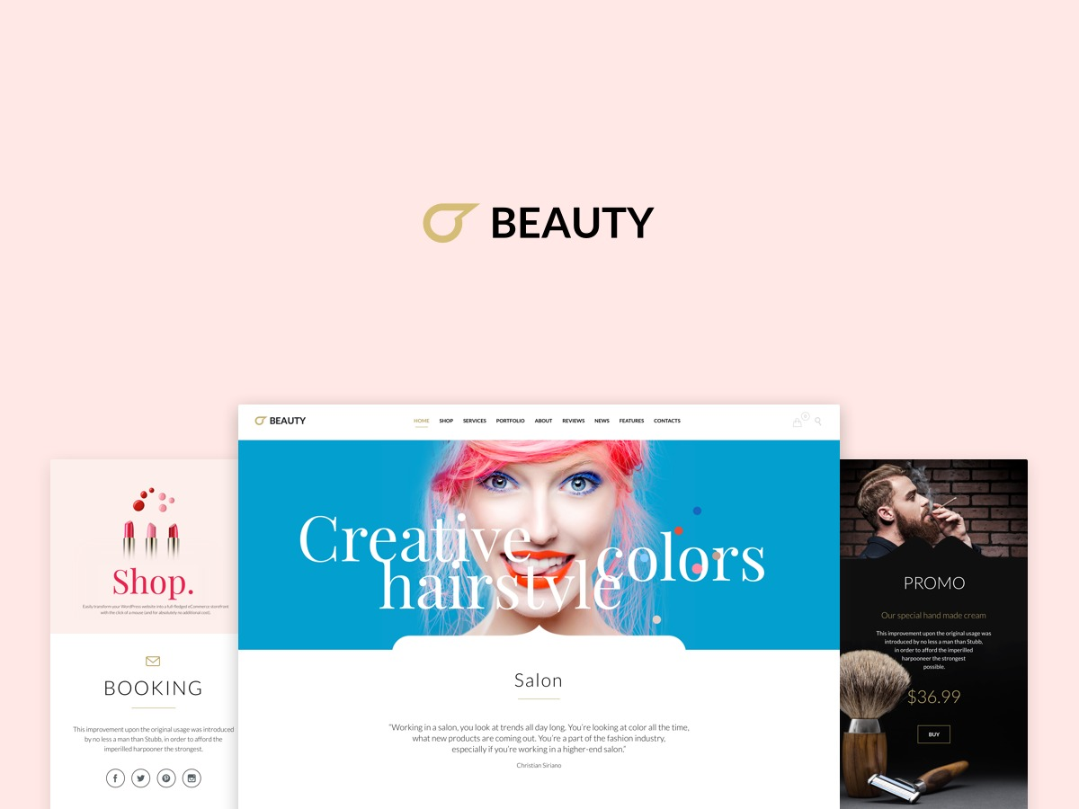 WordPress theme Hair & Beauty