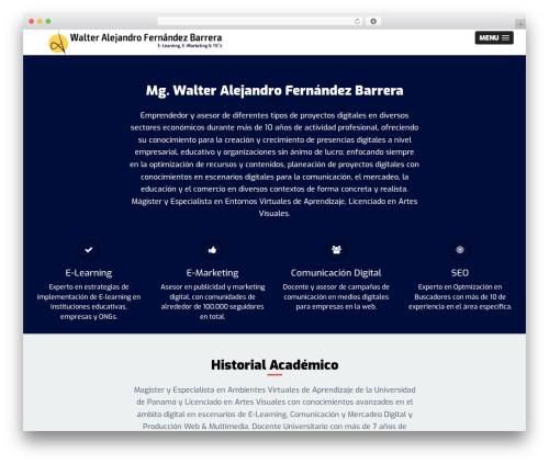 WordPress theme OneEngine - waloart.com