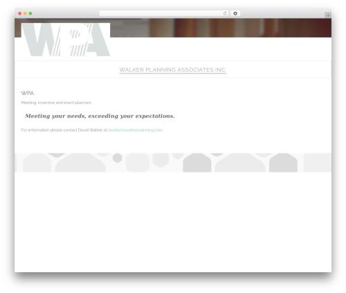 WordPress theme Paradigm - walkerplanning.com