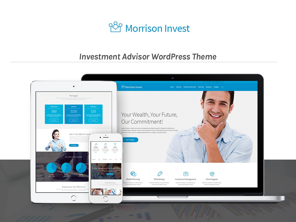 WordPress website template Investment