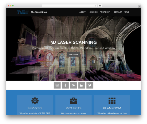 WordPress website template Layers - wassigroup.com/twg
