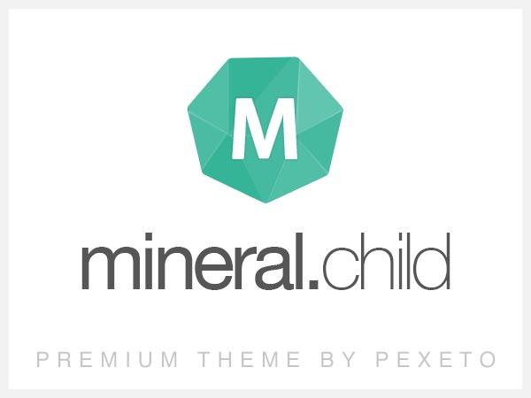 WordPress website template Mineral Child