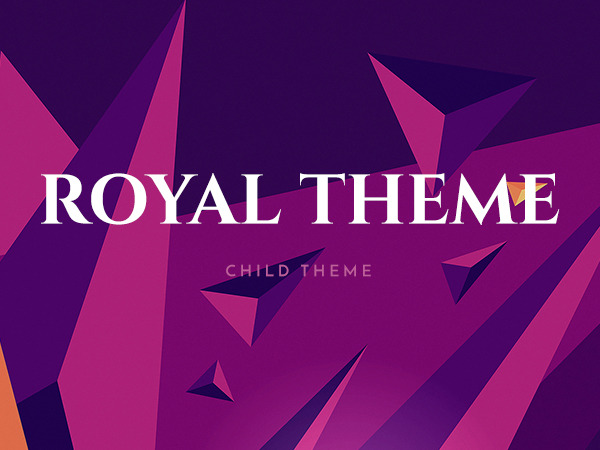 WordPress website template Royal Child