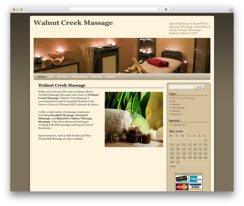 WordPress website template Weaver - walnutcreek-massage.com