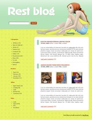 WordPress website template WordPress theme 522