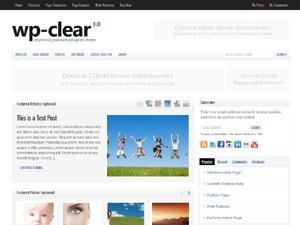 WordPress website template WP-Clear