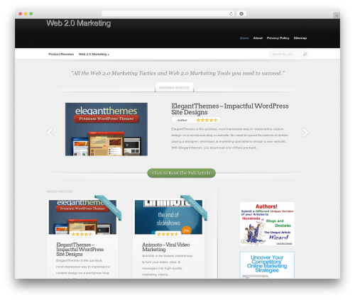 WP template InReview - web20marketing.info