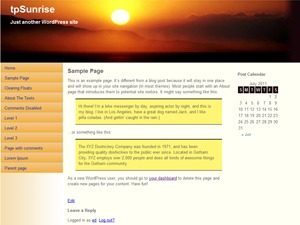 WP theme tpSunrise