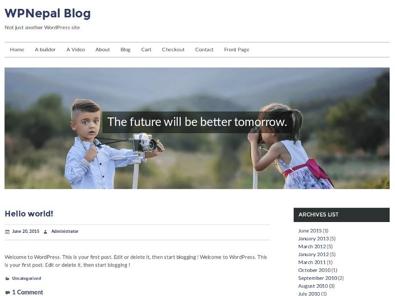 WPNepal Blog WordPress free download